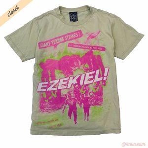 [Ezekiel] Green/Pink Graphic Print Tee Shirt